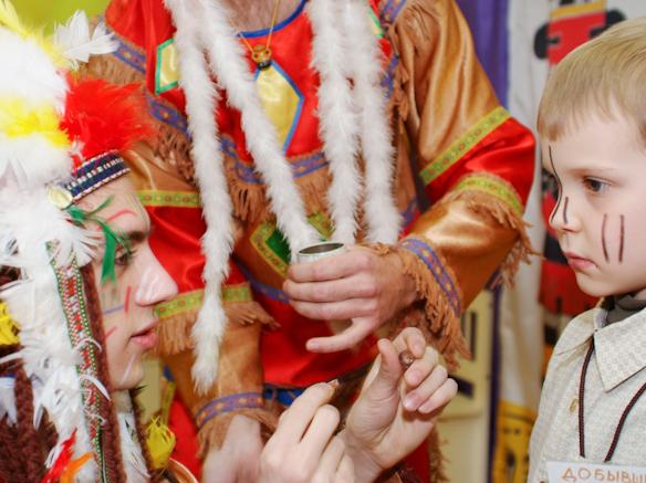 Боевой раскрас индейцев