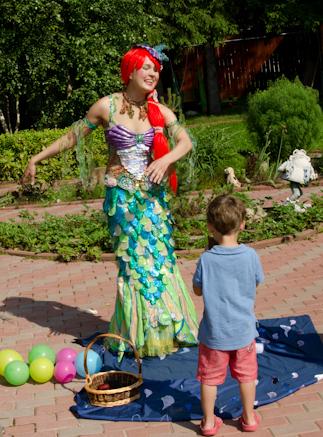 Детский день ребенка с Русалочкой