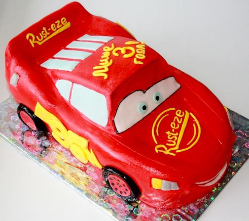 Детский торт тачки машина Макквин