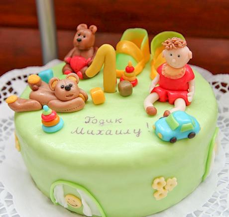 Детский торт мальчику 1 год
