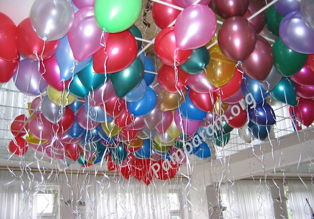 Новогоднее оформление шарами детское