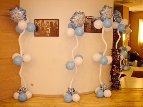 Новогоднее оформление шарами квартиры