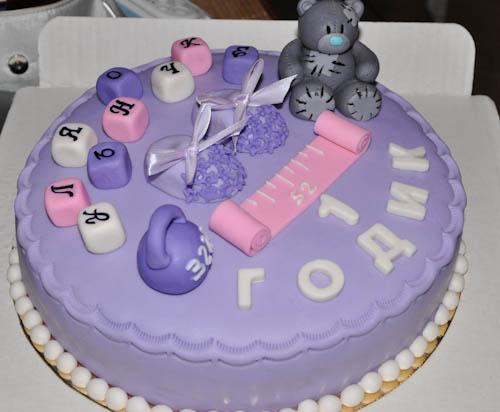 Торт мишка и вес;рост малыша