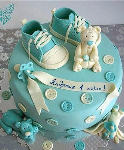 Торт кеды и мишка