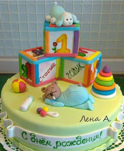 Торт кубики