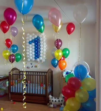 Оформление комнаты на 1 день рождения своими руками