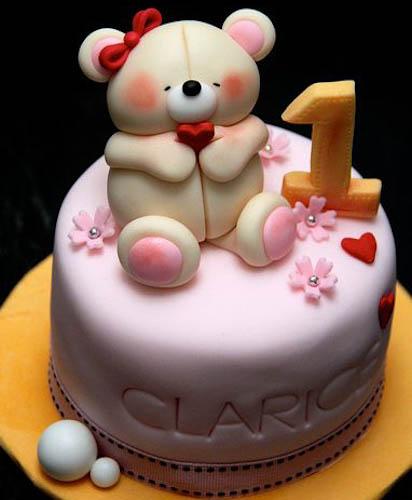 Торт мишка с сердечком