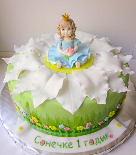 Торт принцесса-дюймовочка