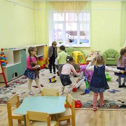 В детских садах